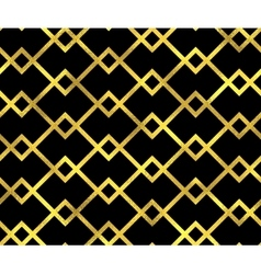 Abstract seamless pattern with golden lines vector image