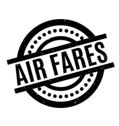 Air fares rubber stamp vector