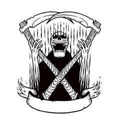 Angry demon skull vector
