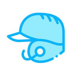 baseball helmet icon outline vector image