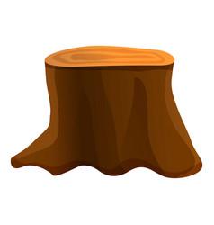 Big tree stump icon cartoon style vector