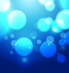 Blue Bokeh Abstract Light Background vector