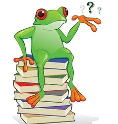 Book frog vector