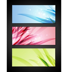 Bright Banner Collection vector image