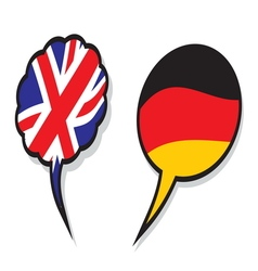 Britain germany cloud flags vector
