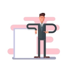Businessman with advertising vector image