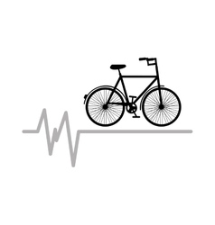 bycicle icon sport design graphic vector image