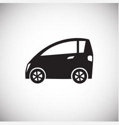 car icon on white background for graphic and web vector image