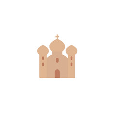 church icon on white flat vector image