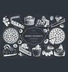 Collection of vintage baking vector