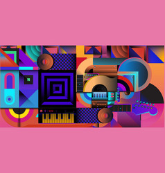 Colorful art and music festival banner vector