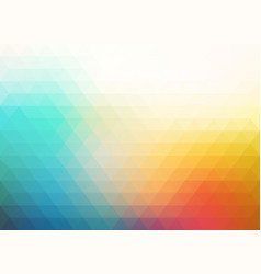 colorful blurry triangle background vector image