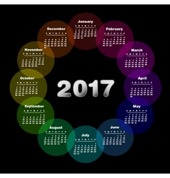 Colorful calendar for 2017 vector image
