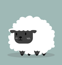 cute black little sheep vector image
