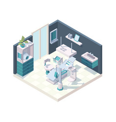 dental cabinet clinic interior stomatology room vector image