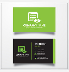 File hide icon business card template vector