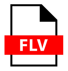 File name extension flv type vector