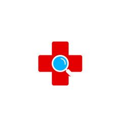 find medical logo icon design vector image