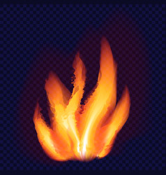 fire flame concept background realistic style vector image