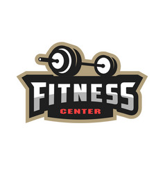 fitness center sport logo vector image