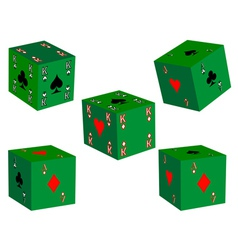five dice vector image