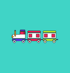 Flat icon design collection babies train vector