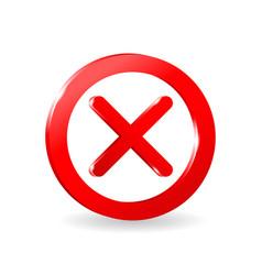 Forbidden prohibit sign 3d empty template vector
