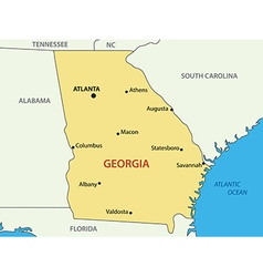 Georgia - US state - map vector image