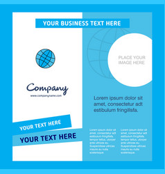 globe company brochure template busienss template vector image