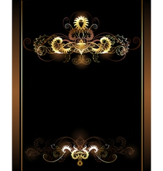 Gold vignettes vector