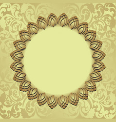 Golden background with decorative frame vector