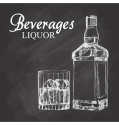 Graphic of sketch Beverages vector image