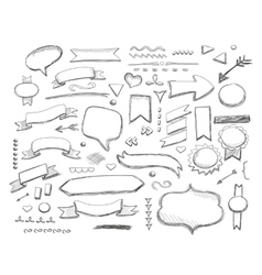 Hand drawn sketch hand drawn elements vector image