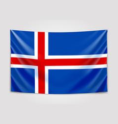 hanging flag of iceland kingdom of iceland vector image