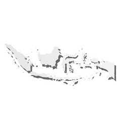 Indonesia - grey silhouette map country vector