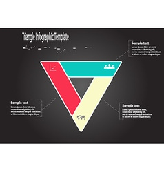 Infographic with triangle shape vector