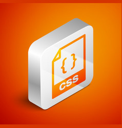 Isometric css file document icon download css vector