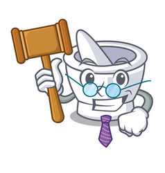 Judge mortar mascot cartoon style vector