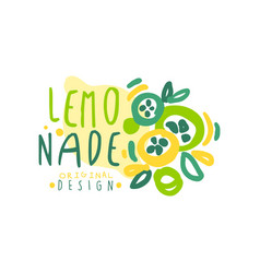 lemonade original design logo template natural vector image