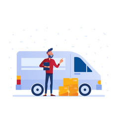 local delivery service concept vector image