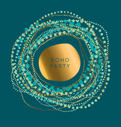 Luxury round boho style element for card vector
