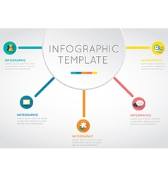 Main idea business infographic template vector