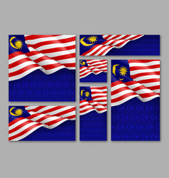 malaysian patriotic festive banners set vector image