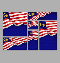 Malaysian patriotic festive banners set vector