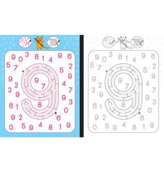 Maze number 9 vector