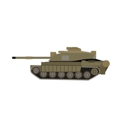 Military Tank Isolated Armoured Fighting Vehicle vector image