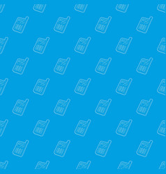 mobile phone pattern seamless blue vector image