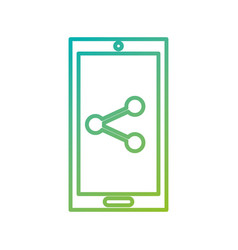mobile phone technology sharing social media vector image