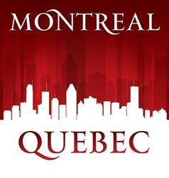 Montreal Quebec Canada city skyline silhouette vector image