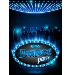 Neon Sign Dance Party vector image